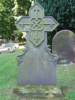 Iron headstone of George Wharton