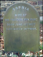 Grave of Sophia Fry, Darlington