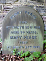 Grave of Henry Pease, Darlington