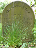 Grave of Theodore West in Darlington
