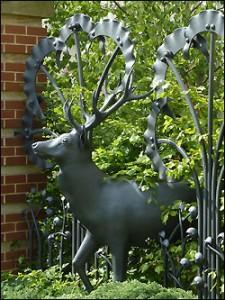 Wrough iron stag