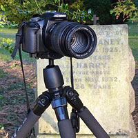 Headstone photography for genealogy